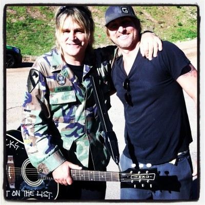 Mike Peters and James Chippendale