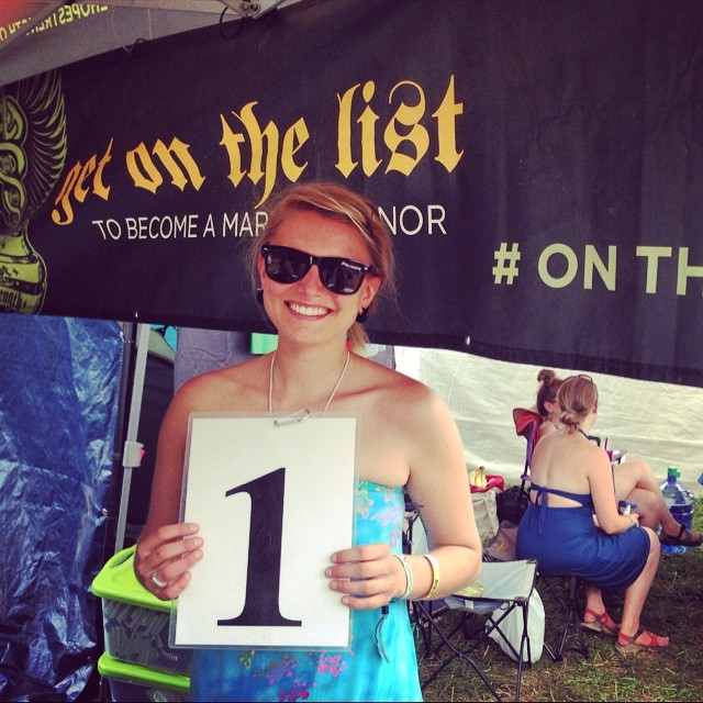 Our very first sign up today at #FloydFest 2014 !!! Let the madness begin!!!! @deletebloodcancer @schompmini